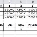 Tabla de correspondencias en Excel