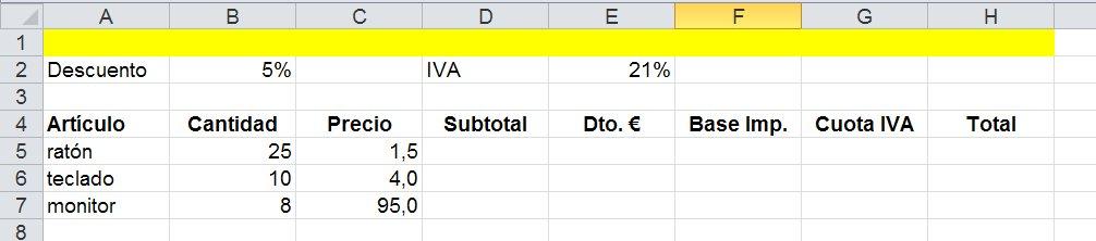 Supuesto de partida para técnicas de calculo