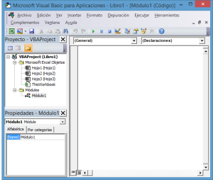 Entorno VBA para Excel
