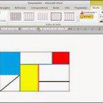 Tabla dibujada en formato libre al estilo Piet Mondrian