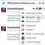Interacciones en Hootsuite con los tuits de un debate