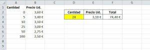 Ejemplo para busqueda aproximada en Excel con solucion