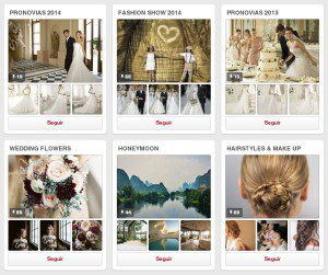 Tableros en Pinterest de Pronovias