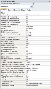 Propiedades de formato de formulario