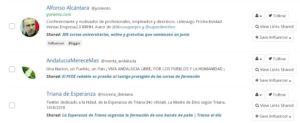 Uusarios de Sevilla que han compartido contenido de formación