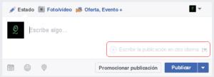 Escribir la publicación en otro idioma en Facebook