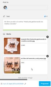 Imágenes asociadas a publicaciones en lote con Hootsuite