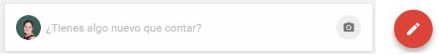 Opciones para lanzar un post en Google+