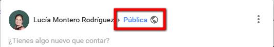Post público en Google+
