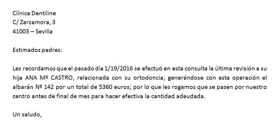 Carta base con fecha en formato erróneo