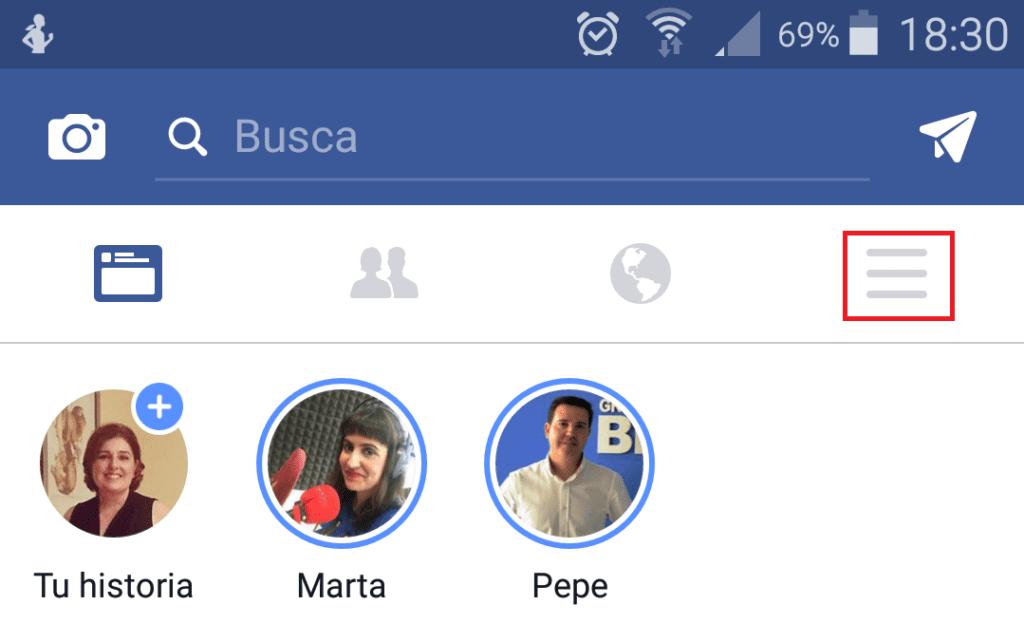 Cómo activar la función de Tiempo en Facebook