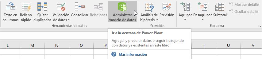 Activar el completo PowerPivot para Excel