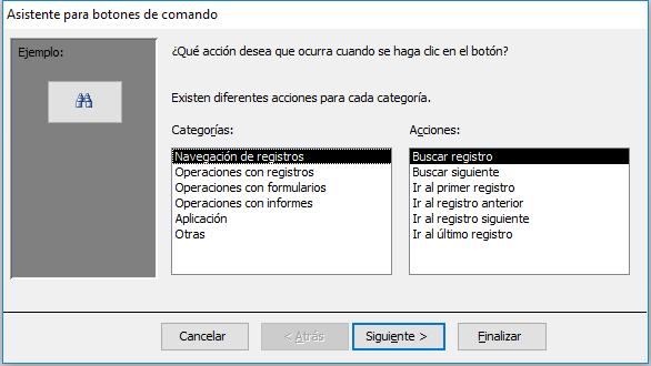 Asistente para botones en Access