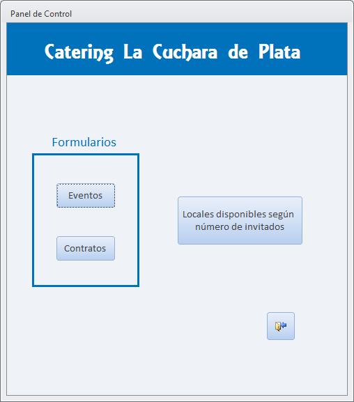Ejemplo de Panel de Control en Access