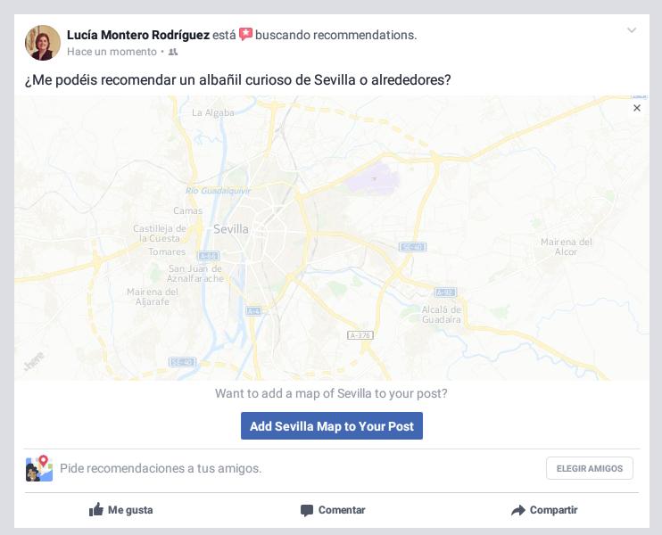 Facebook te ayuda con las recomendaciones