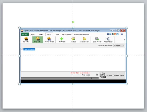 Ejemplo de captura de pantalla directa con Word o PowerPoint