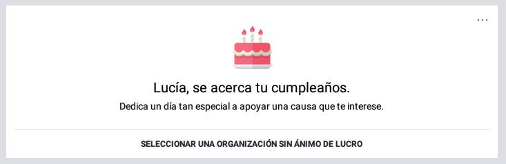 Facebook tiene algo para ti por tu cumpleaños