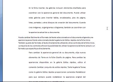 Formato tras repetir características de párrafo