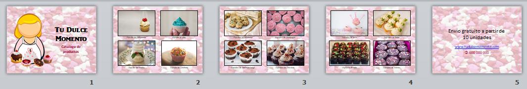Catalófo de productos o portfolio creado con PowerPoint