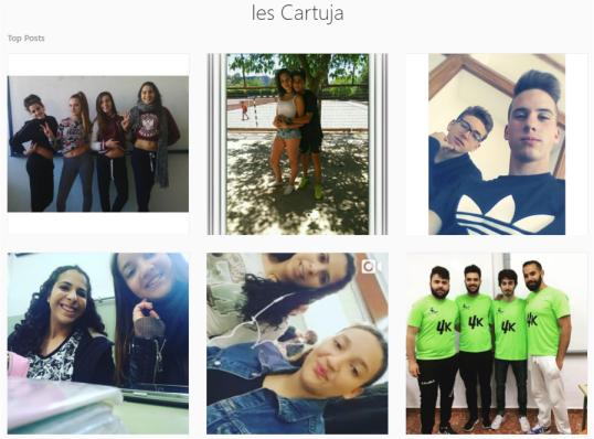 Localizando en Instagram el contenido publicado desde un instituto