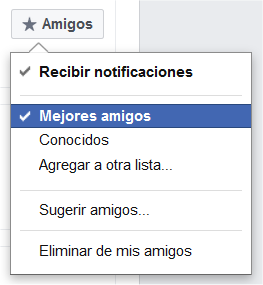 Listas habituales de contacto en Facebook