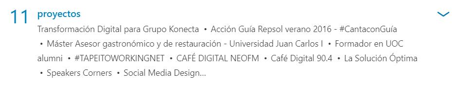 Proyectos de Lucía Montero en LinkedIn
