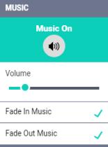 Control de la música en Offeo