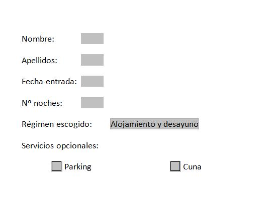 Formulario en Word con campos definidos