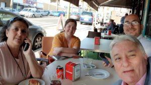 Con Antonio Domingo, Ama María Ros y Antonio Vallejo Chanal