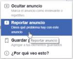 Opciones cuando no quieres anuncios en Facebook